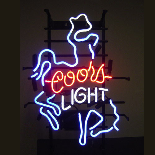 New T21 COORS LIGHT handicrafted real glass tube neon light beer lager bar pub club sign.