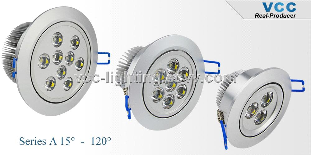 Hot selling 1300lm Bridgelux high power 12W led recessed downlight