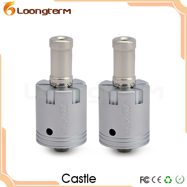 Electronic Cigarette Rebuildable Dripping Castle Atomizer with Airflow Control