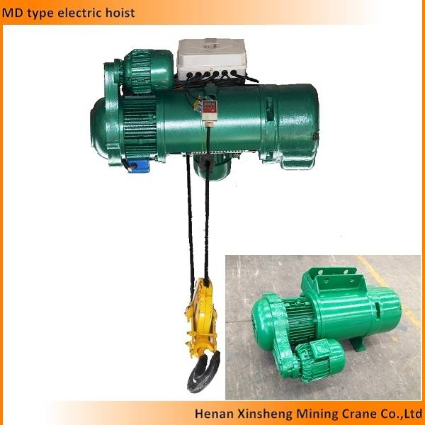 Easy and simple to handle electric wire rope hoist