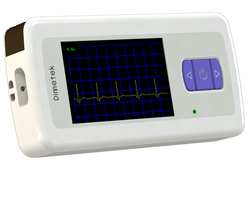 portable color display ECG recorder heart care device