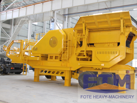 tire mobile crusher plant price