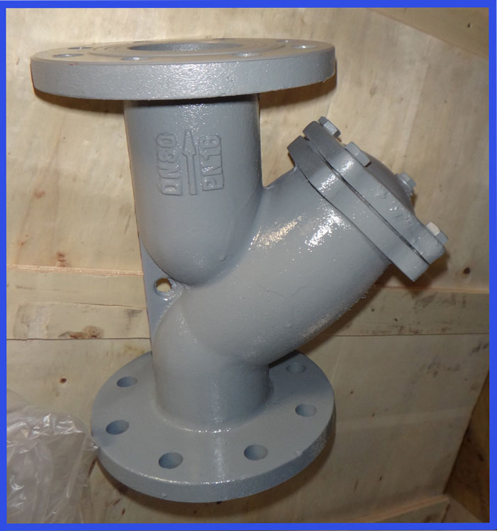 Stainless steel screwed y strainer for pipeline cleaning
