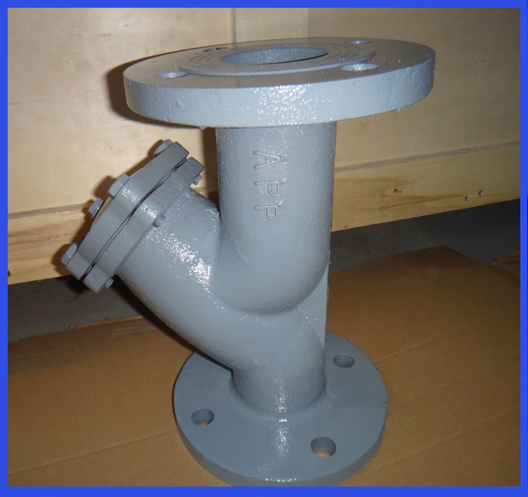 Ductile Iron Flange connection stainless steel y strainer