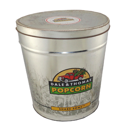 popcorn tin bucket food container