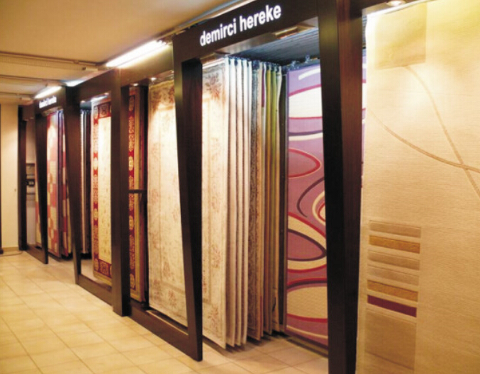 Carpet Exhibition Display Board Showroom Shelf Mdf Rack