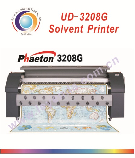 Best offer !3.2m Durable used!Outdoor advertising solvent printer machine!