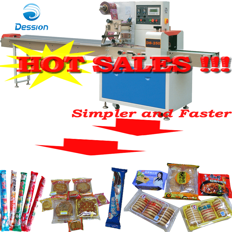 Packaging machine for center filling cream/oatcake/ biscotti/flapjack/puff packing/wrapping machine