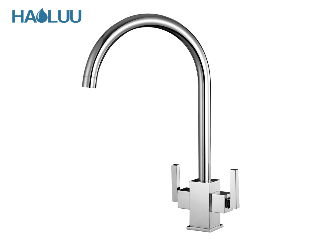 Two Handles Kitchen Faucet One Hole Mixer and Tap HL92002 purchasing ...