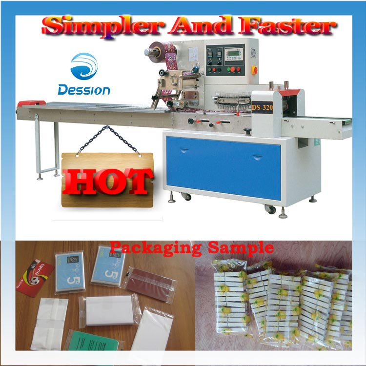 Playing card rechargeable card/prepaid card/ certificate card/IC card bag-packaging machine