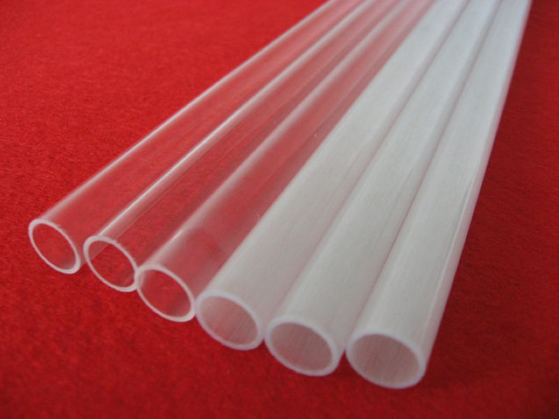 clear color quartz twin tube in high purity