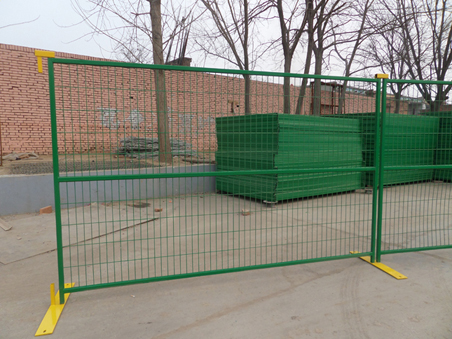 Portable Visible Steel Temporary Fence Panels For Construction Building  Projects And Special Events ...