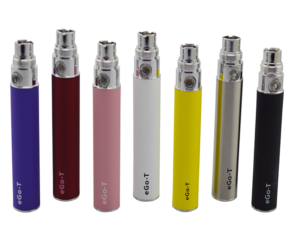 Electronic cigarettes rechargeable batteries Ego-T with LED display