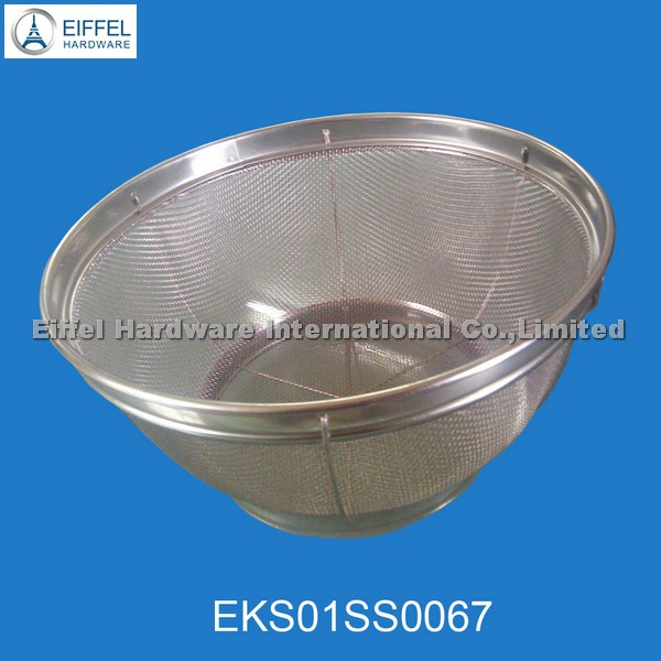 Stainless steel skimmer/ strainers/ fruit tray(EKS01SS0067)
