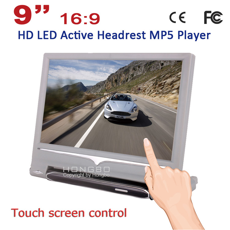9'' High Definition Touch Screen Active Headrest Player with HDMI