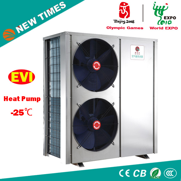-25 deg.c Air Source EVI Heat Pump for Chilly Area