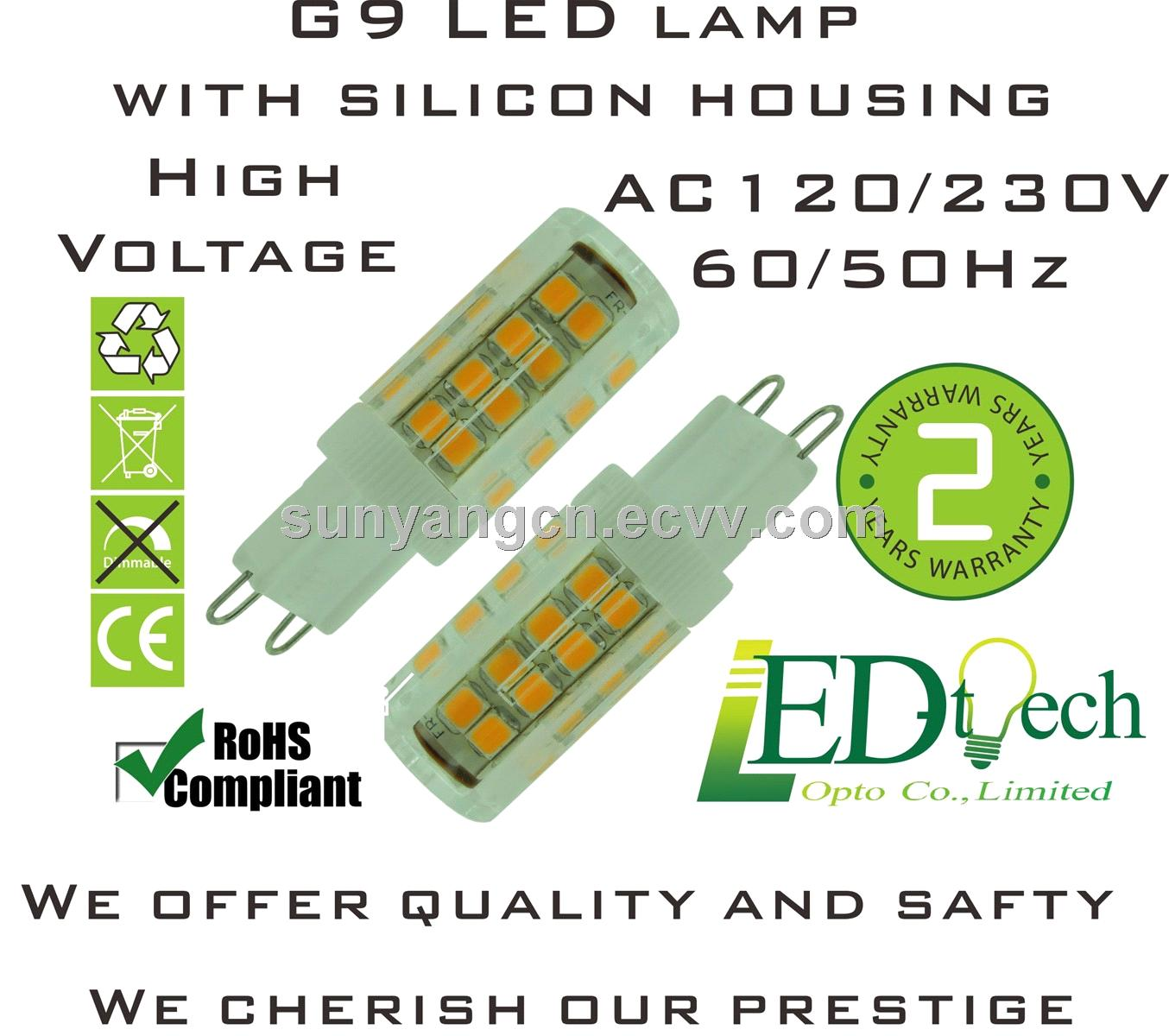 AC120V/AC230V,G9, LED 3.5W,51 pcs,SMD 2835,Taiwan Epistar chips,no.40773
