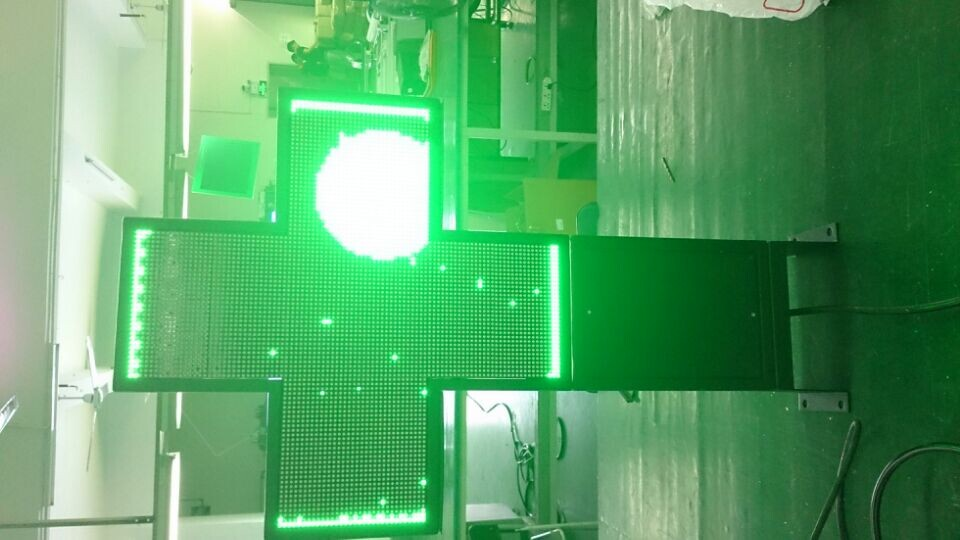 P5 double sides  led  cross screen