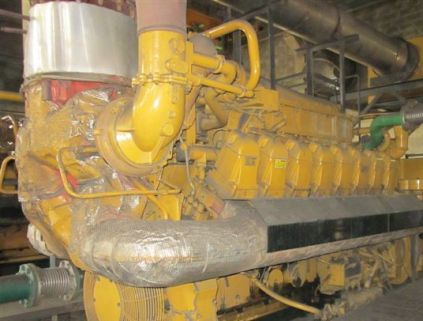 Three (3) 1600 KW Caterpillar G3516C Gas Generator Sets (Complete 4800 KW Plant)