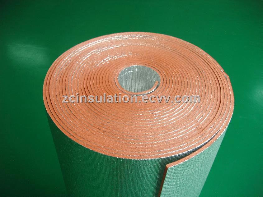 pure aluminum flame retardant XPE foam construction building Fireproof thermal Insulation Material
