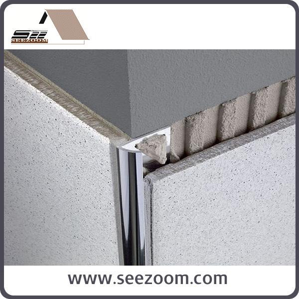 2 5m Aluminium Inside Corner Round Tile Edge Trim