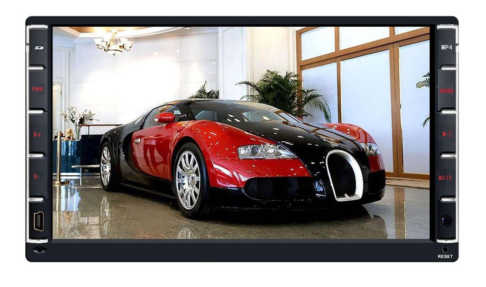 Pure android 4.04 two din Car MP5 with GPS/Bluetooth/USB/SD 1024 x 600 capacitive touch screen