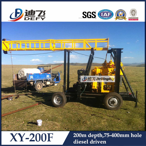 XY-200F China Top Used Borehole Drilling Machine for Sale
