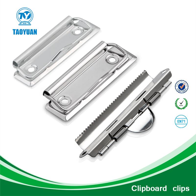 Dongguan Taoyuan Sell 120mm metal checker clipboard&paper clips ...