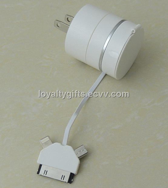 3 In 1 USB Data Charge Sync Cable for iP4/4S PAD/iP5 Lightning/Micro USB