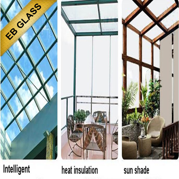 Opaque Laminated temperature control smart glass, Laminated + insulated  glass for winter EB GLASS