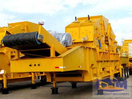 China tire rock mobile impact crusher