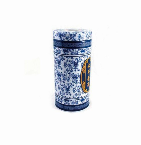 custom round airtight tea tin can supplier in china