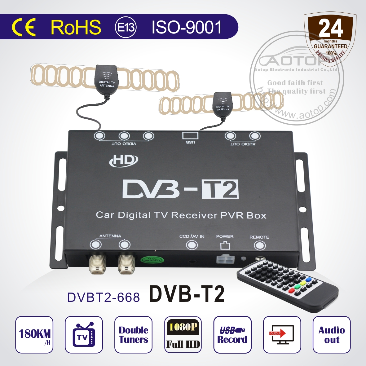 Car Dvb T2 Tv Tuner With Pvr Usb High Speed 150kmh Purchasing