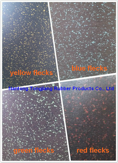 Color flecks EPDM rubber flooring sheet