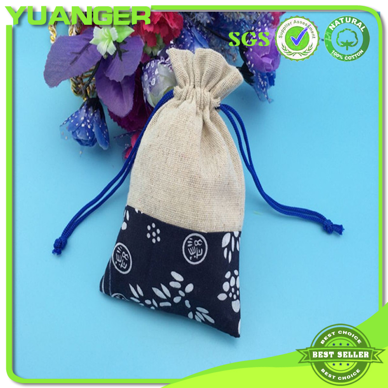 Exquisite Wholesale Small Jute Bags Sacks With Calico Cotton Wholesale