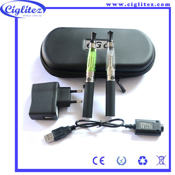 zipper case electronic cigarette 650mah ego ce4 with charger