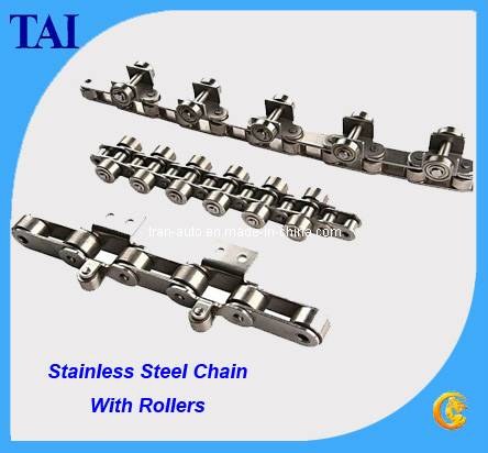 Conveyor Chain with Rollers in Stainless Steel Chain (OEM)
