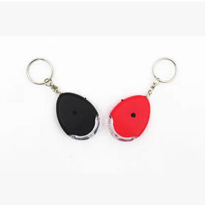 New creative gift cheap hot sale whistle key finder keychain keyrings with sound