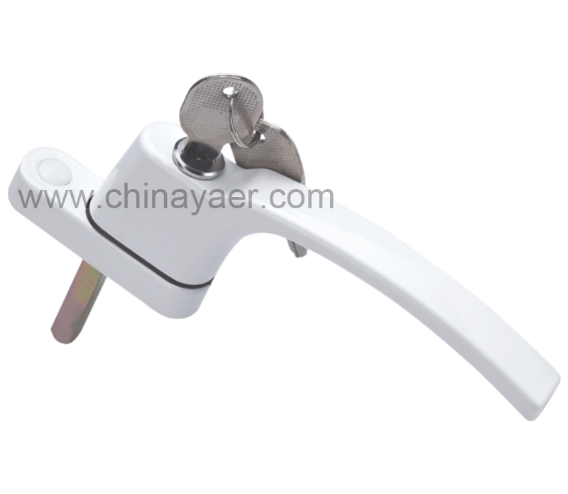 Aluminum alloy Outward Opening Window Handle with the Key
