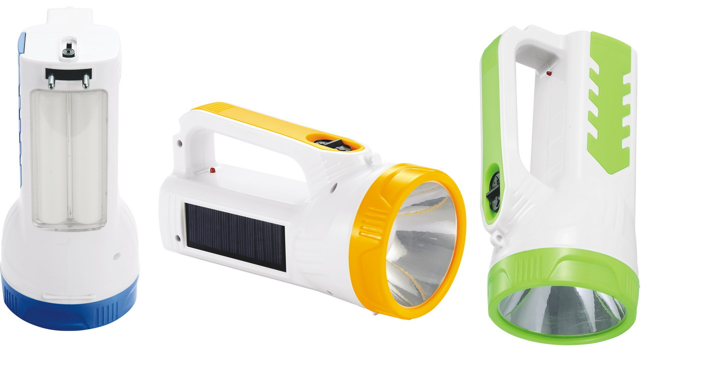JA-1950 Multi-Functional Solar LED Flashlight High Power LED Torch Portable LED Search Light