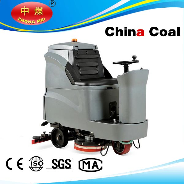 GM110BT85 Two Brushes auto cordless ride on floor scrubber industrial cleaning machine