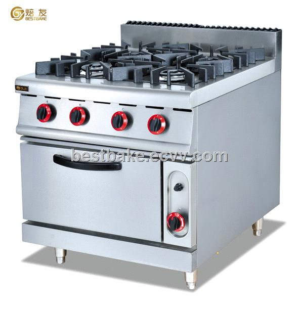 Stainless Steel Gas Range With 4-Burner& Gas Oven BY-GH987A
