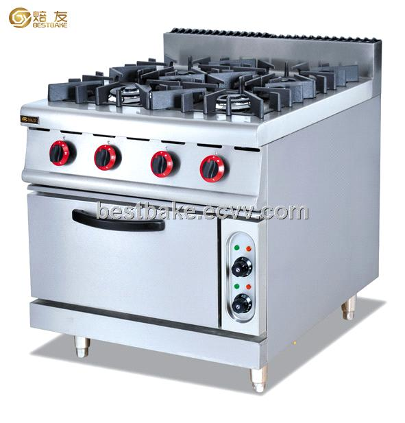 Gas range with 4 burner & Electric oven GH-987B