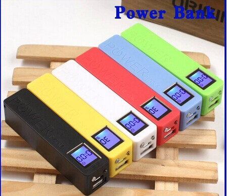 customize company logo mobile power charger 2600mah power bank used as door gifts