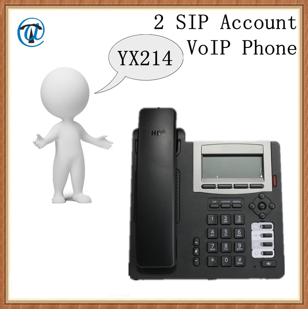 YX214 2 Sip Account VoIP Phone, Wired VoIP Phone, Telecommunicaiton ...