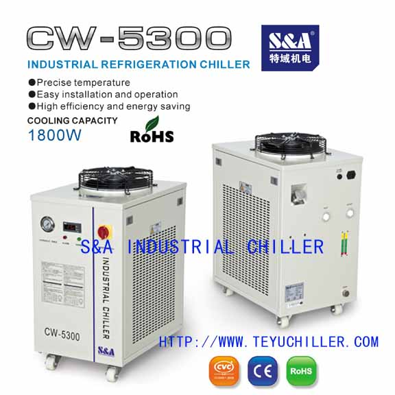 Water cooler for fiber laser cutting machine