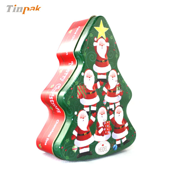 lovely christmas decorative tree shaped tin gift boxes wholesale