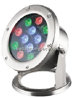 Outdoor IP68 1620lm high power 18w led underwater light