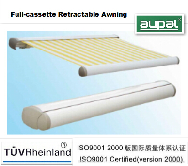 Full-cassette retractable door awning(remote)
