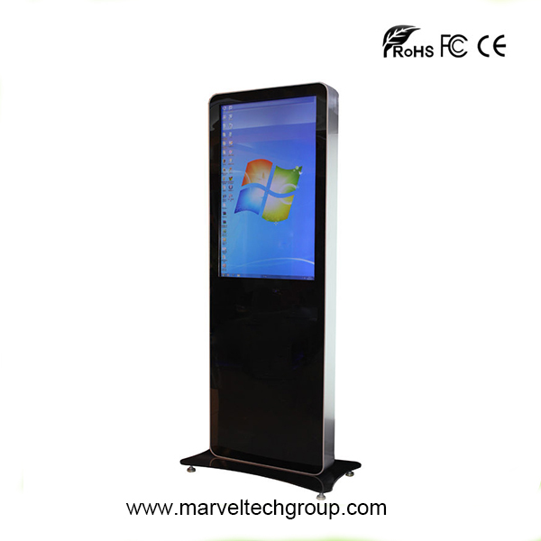 55 inch free standing iphone style lcd advertising totem display